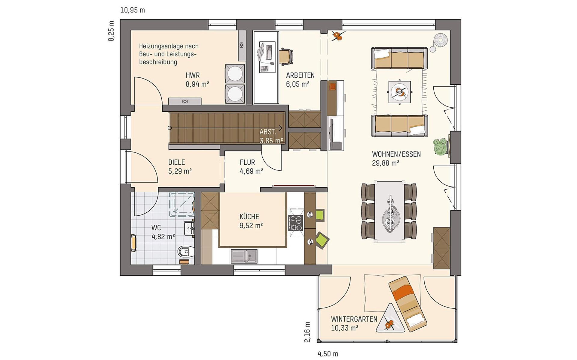 Erdgeschoss NEO 211 S130 SE von FingerHaus GmbH