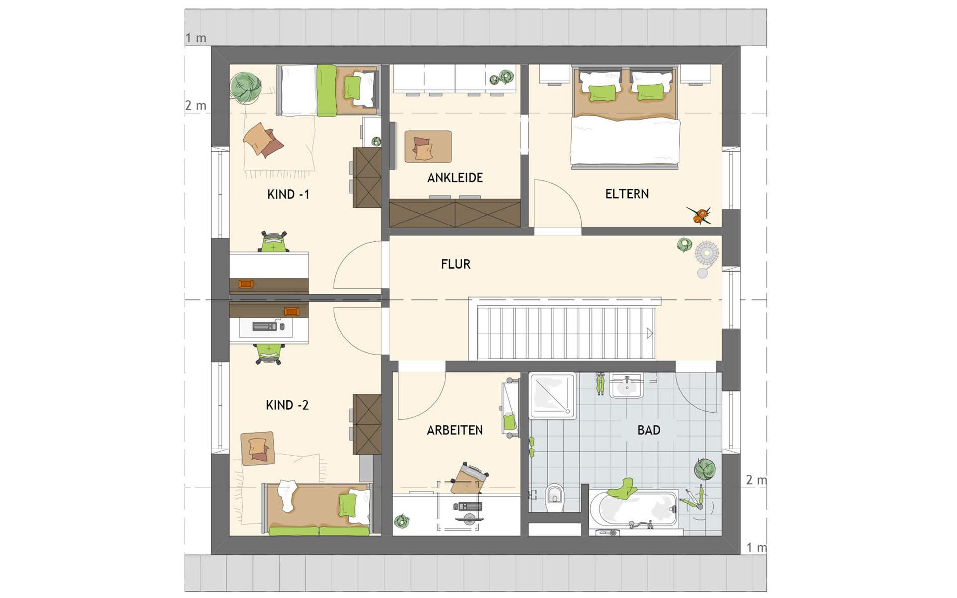 Dachgeschoss SENTO 301 A S130 von FingerHaus GmbH