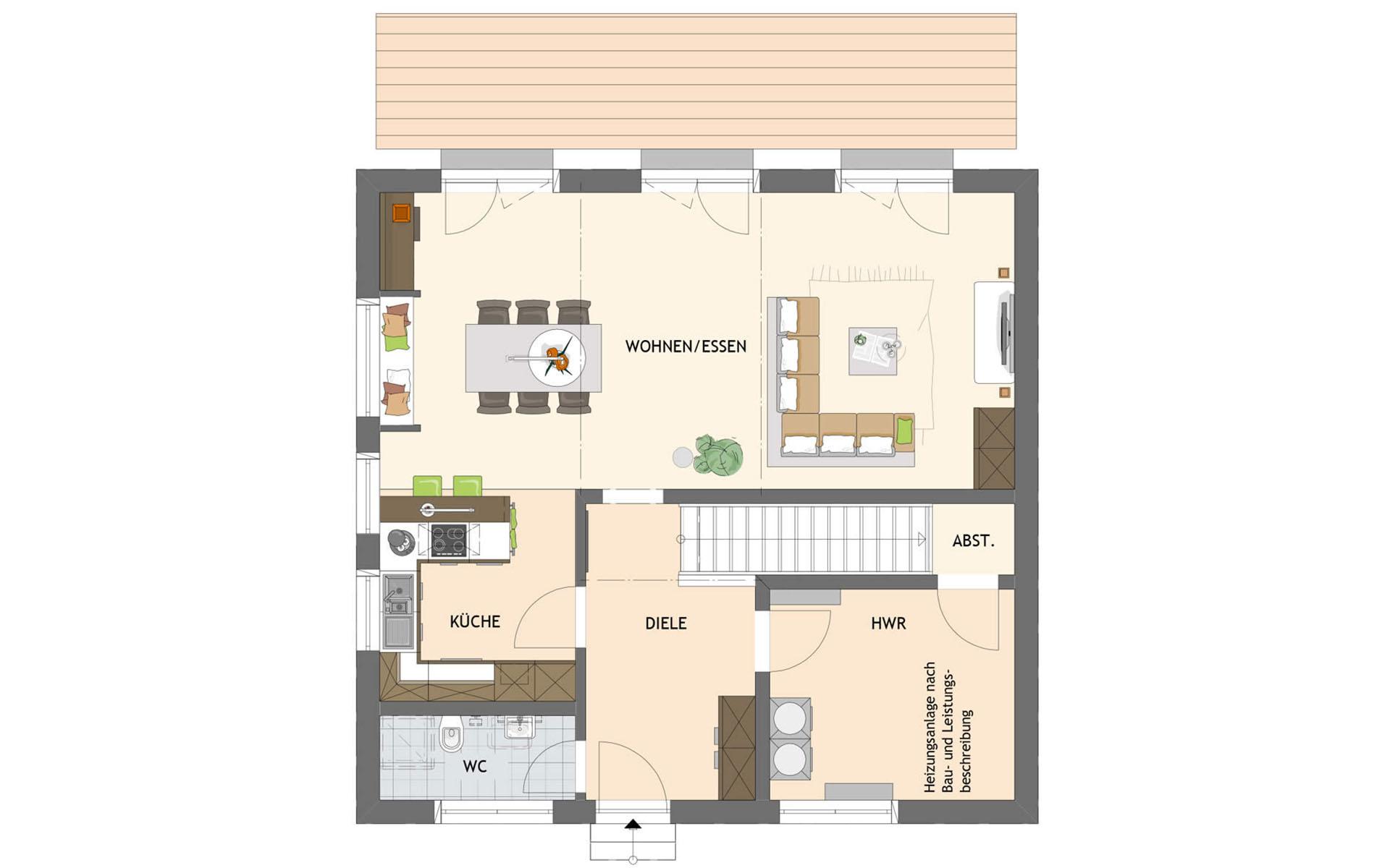 Erdgeschoss SENTO 301 A S130 von FingerHaus GmbH