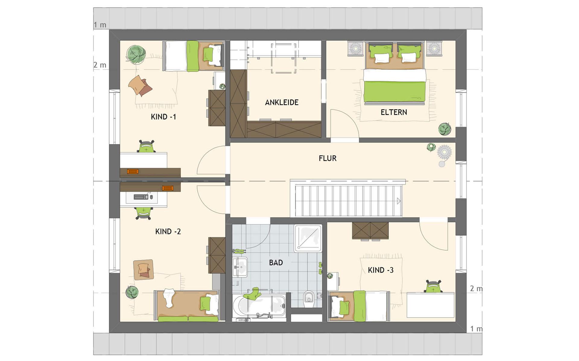 Dachgeschoss SENTO 504 K S130 von FingerHaus GmbH