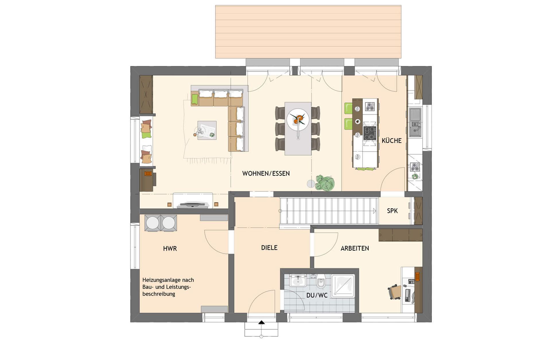 Erdgeschoss SENTO 504 K S130 von FingerHaus GmbH