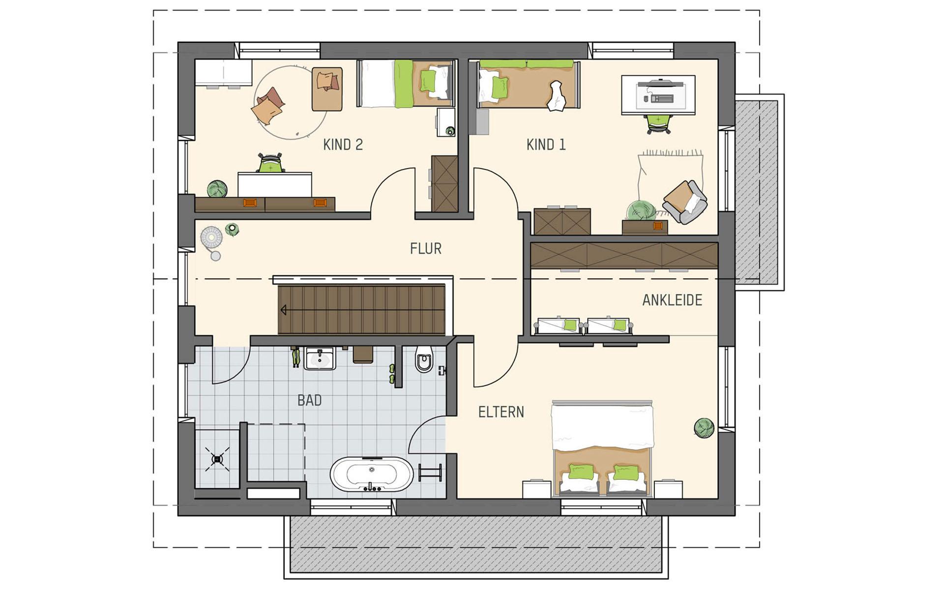 Dachgeschoss SENTO - Musterhaus Frankenberg von FingerHaus GmbH