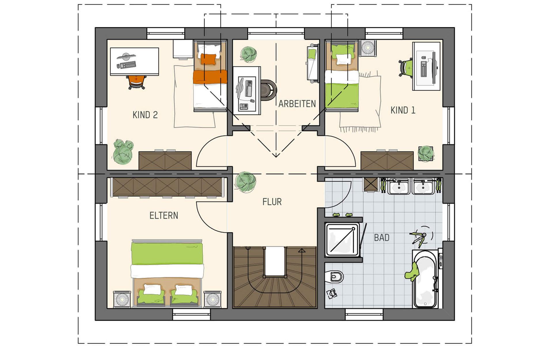 Dachgeschoss UNO 2.0 - Musterhaus Leipzig von FingerHaus GmbH