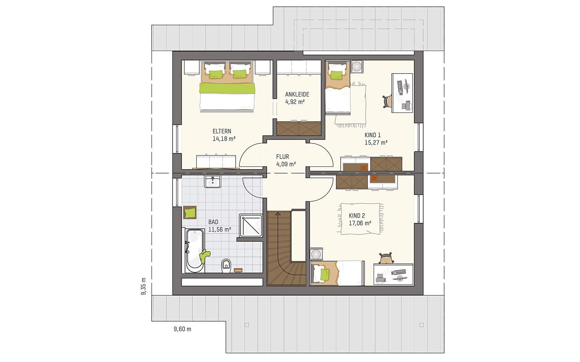Dachgeschoss VIO 221 S130 SE von FingerHaus GmbH