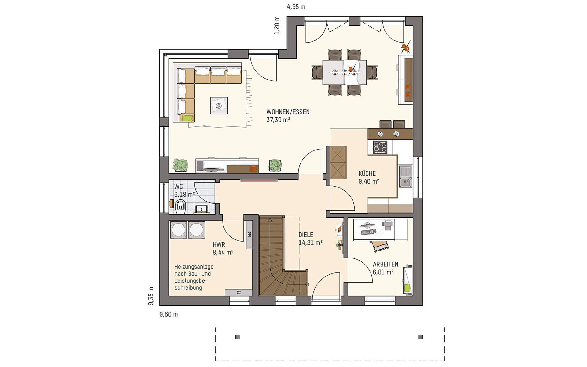 Erdgeschoss VIO 221 S130 SE von FingerHaus GmbH