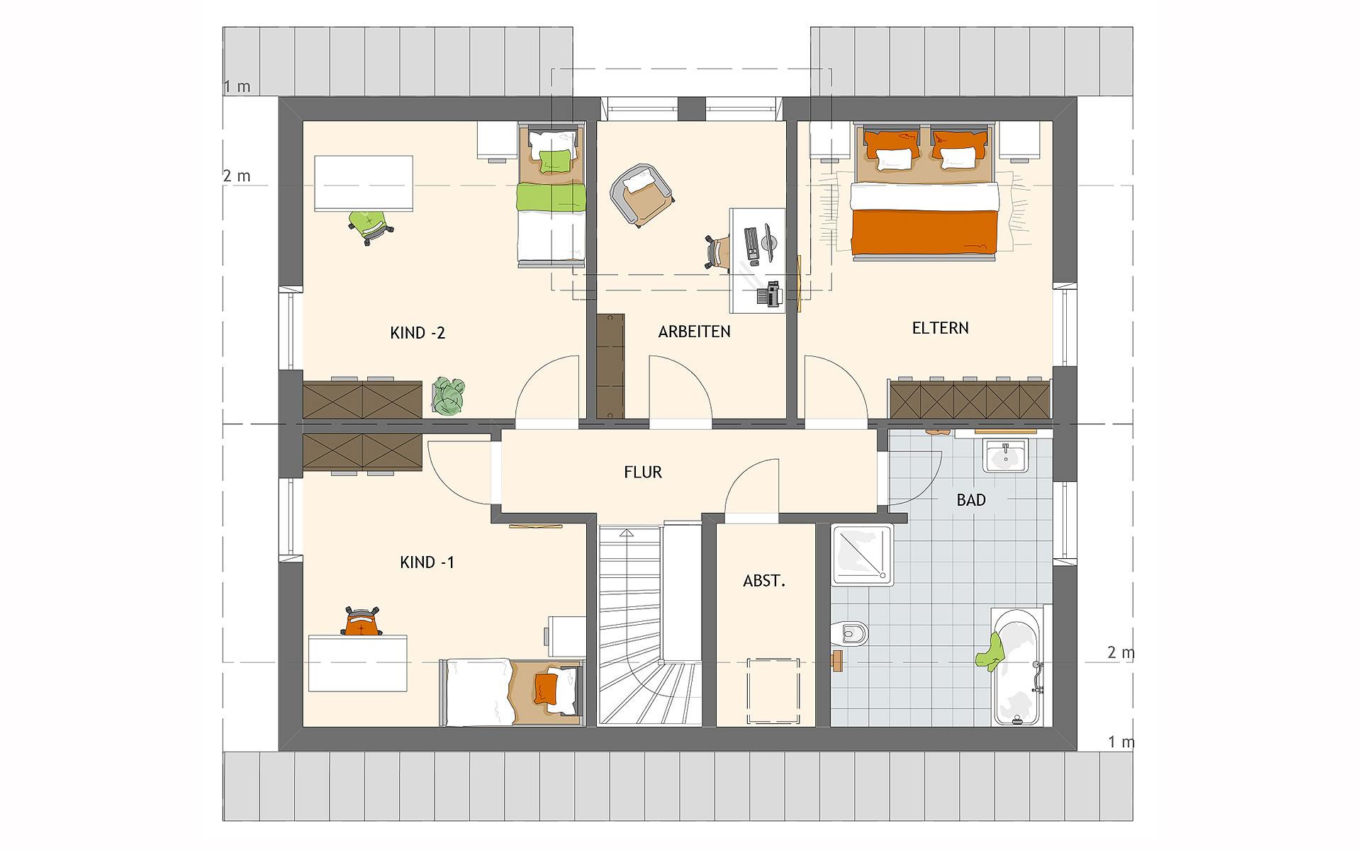 Dachgeschoss VIO 420 S130 qg von FingerHaus GmbH