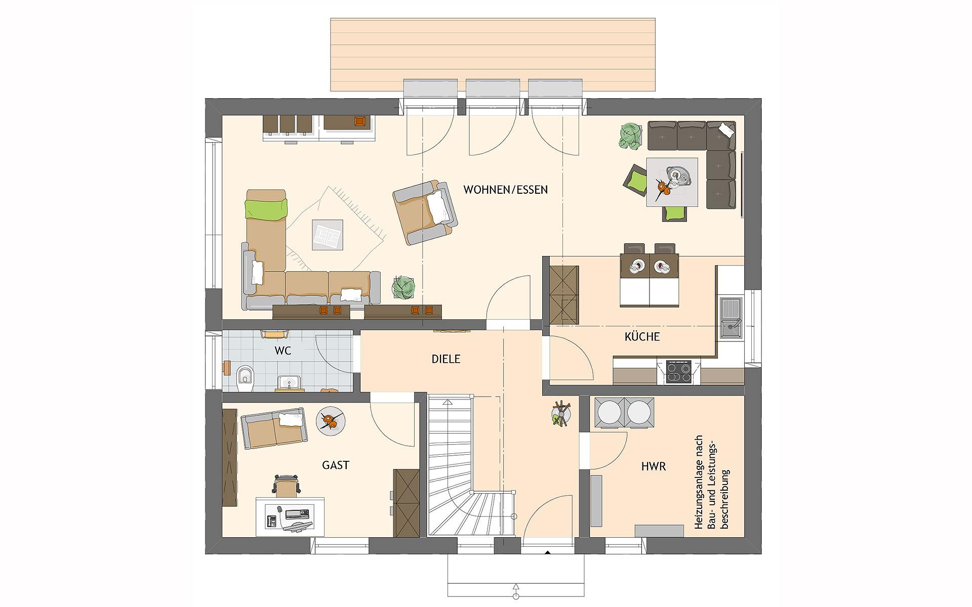 Erdgeschoss VIO 420 S130 qg von FingerHaus GmbH