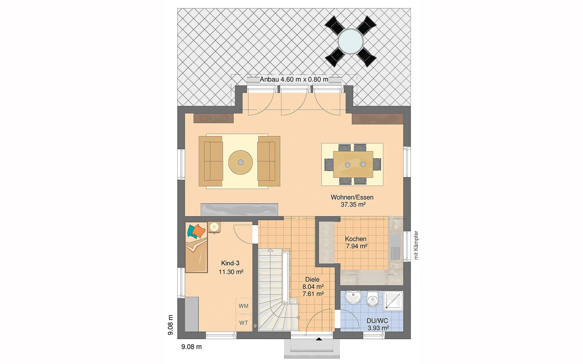 Erdgeschoss BRAVUR 130 von FingerHaus GmbH
