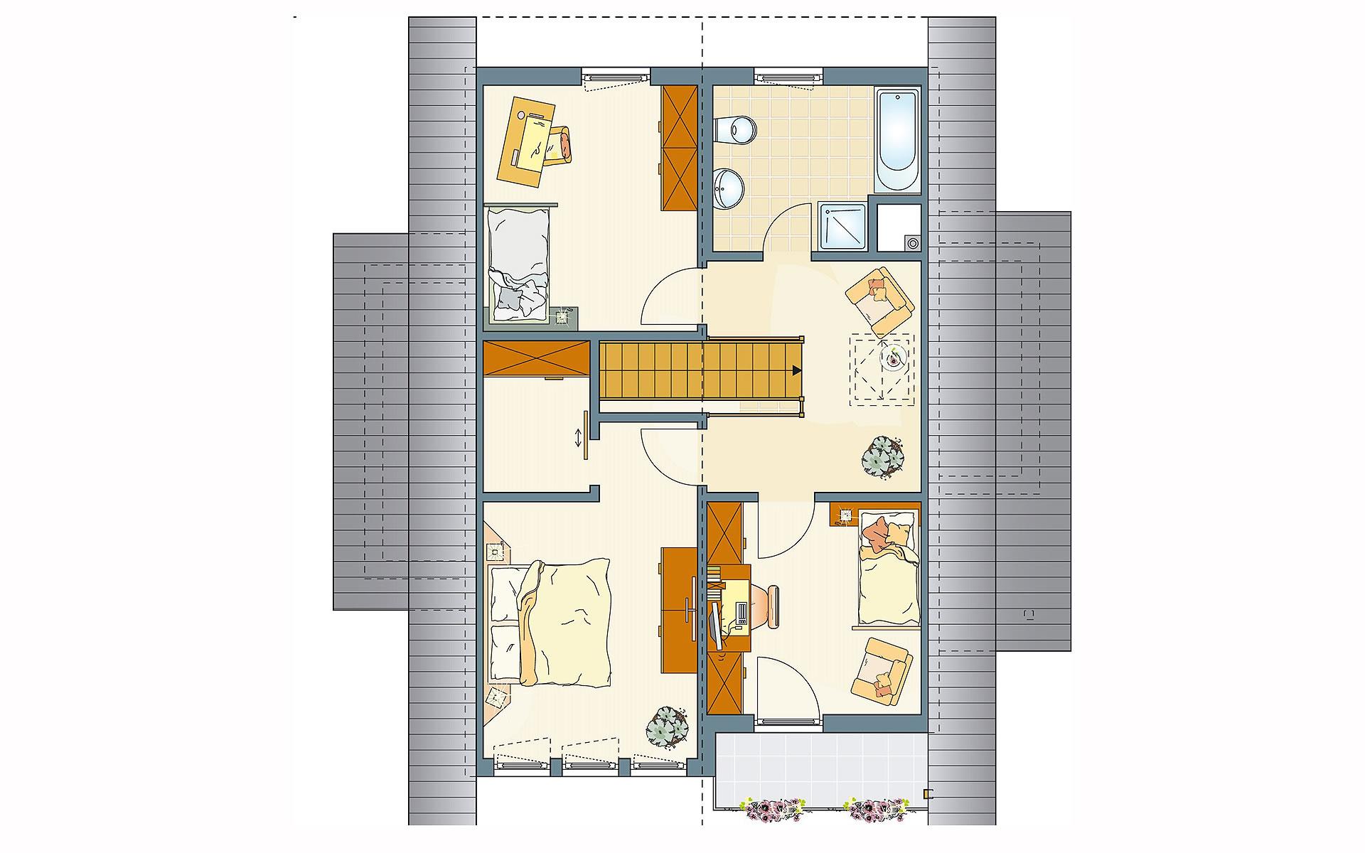 Dachgeschoss FINO 300 A - Musterhaus Würzburg von FingerHaus GmbH