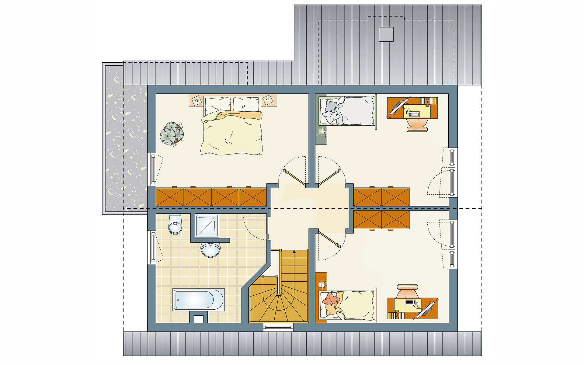 Dachgeschoss Frei geplant - FLAIRplus - Musterhaus Marburg von FingerHaus GmbH