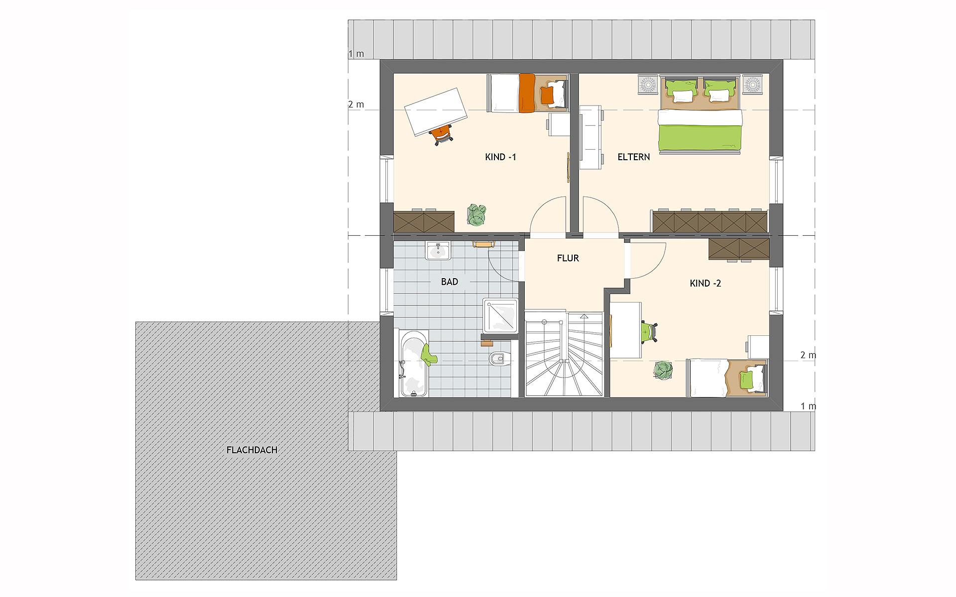 Dachgeschoss MAXIM 7 M2 von FingerHaus GmbH