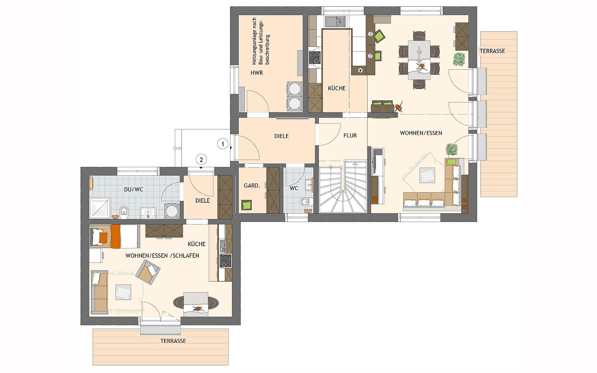 Erdgeschoss MAXIM 7 M2 von FingerHaus GmbH