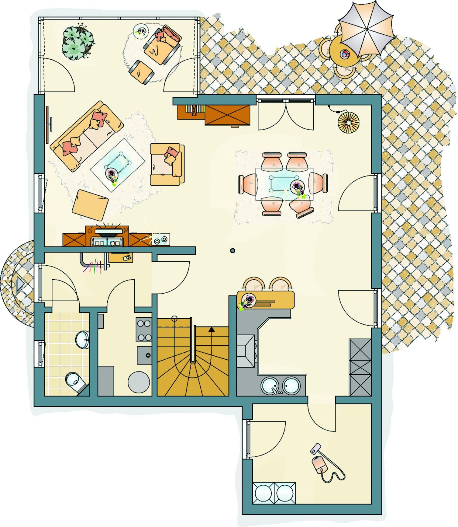 Erdgeschoss MEDLEY 200 B MH Frankenberg von FingerHaus GmbH