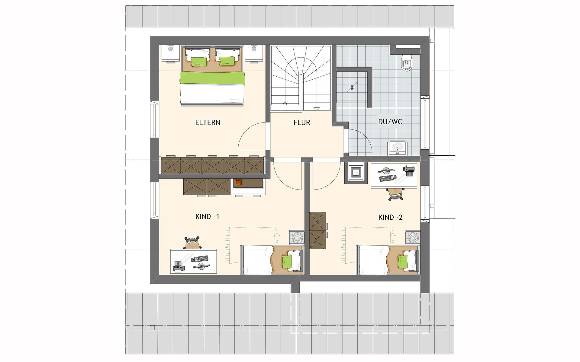 Dachgeschoss MEDLEY 100 A von FingerHaus GmbH