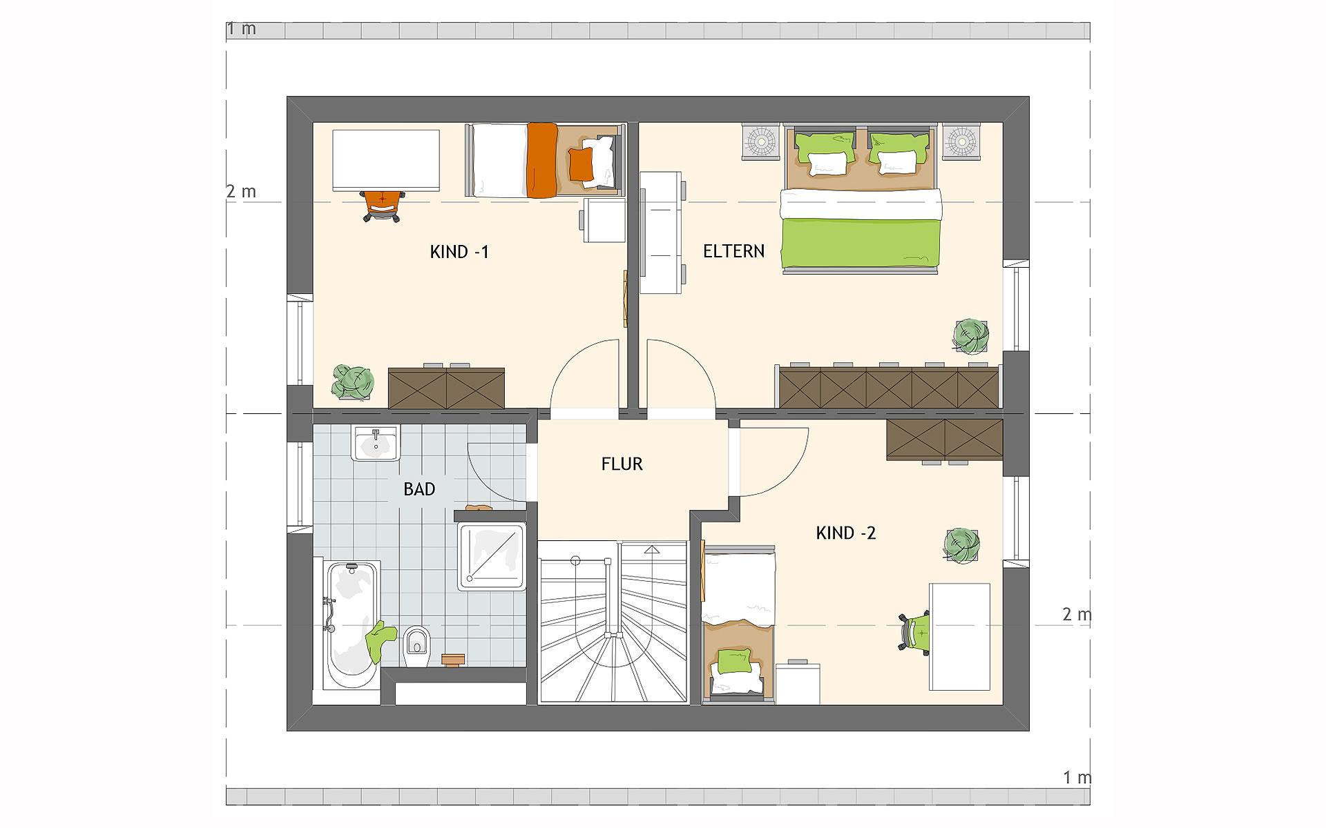 Dachgeschoss MEDLEY 3.0 102 A S160 von FingerHaus GmbH