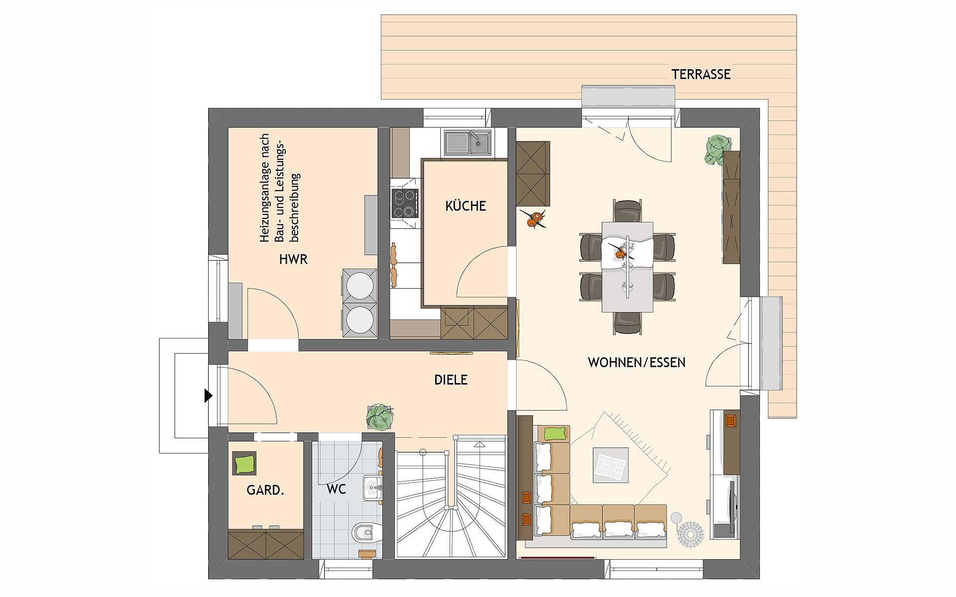 Erdgeschoss MEDLEY 3.0 102 A S160 von FingerHaus GmbH