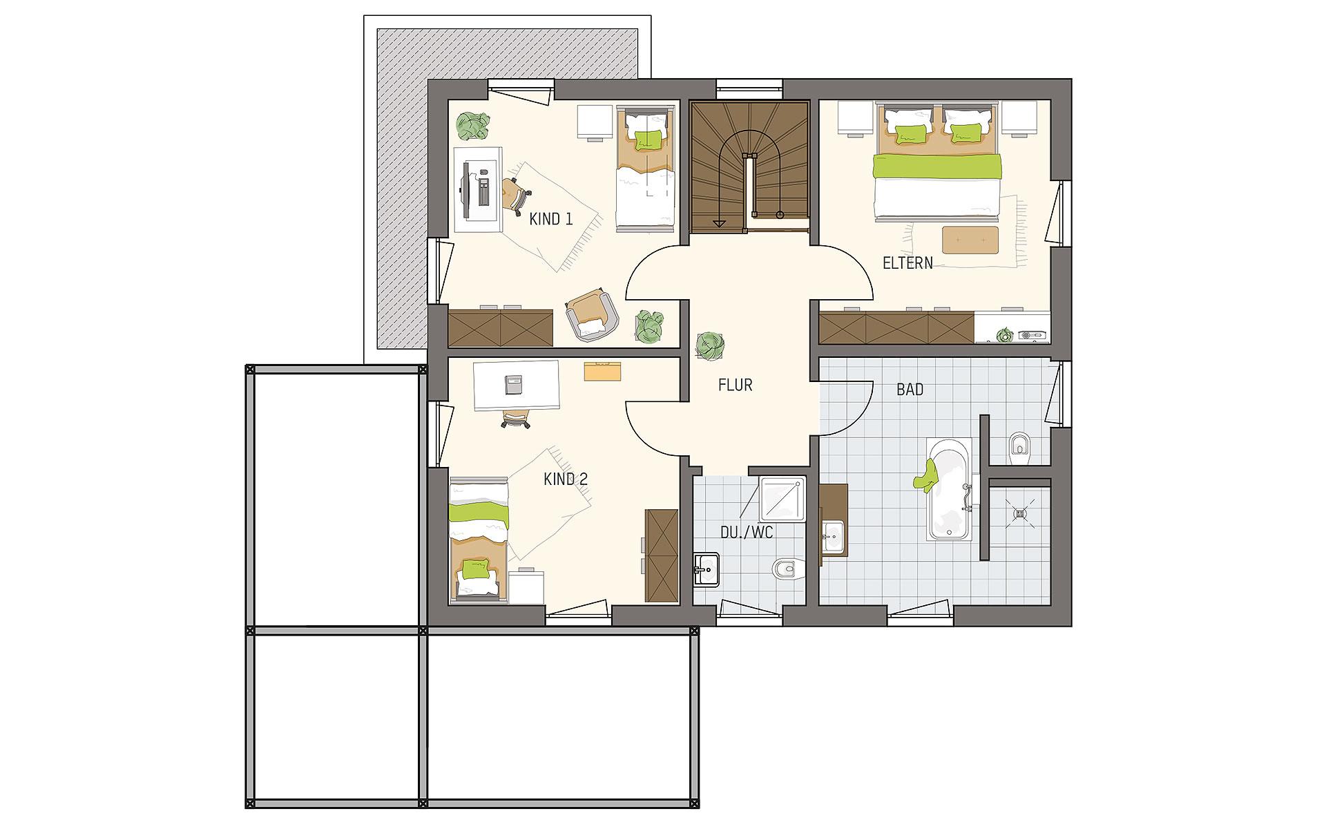 Obergeschoss MEDLEY 3.0 - MH Frankenberg von FingerHaus GmbH