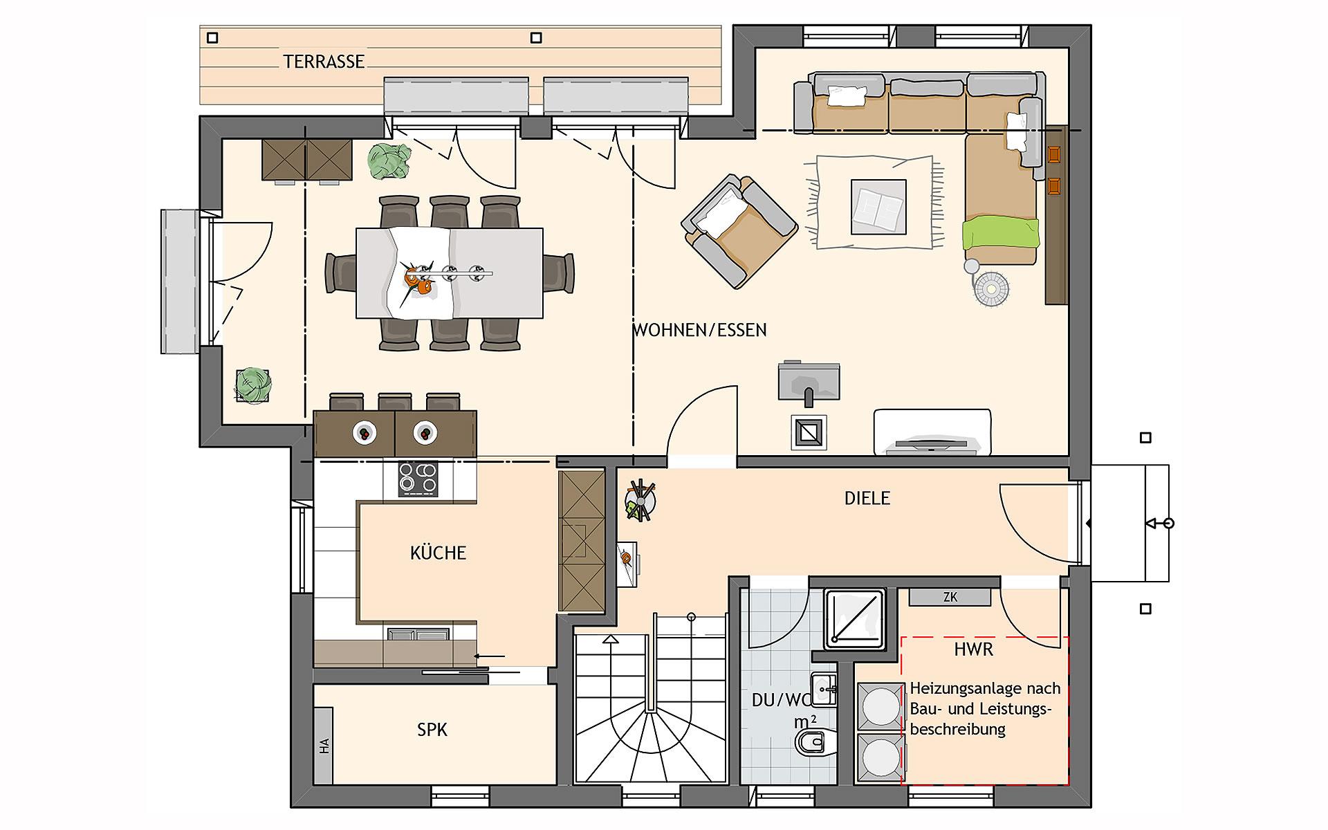 Erdgeschoss MEDLEY 310 B  von FingerHaus GmbH