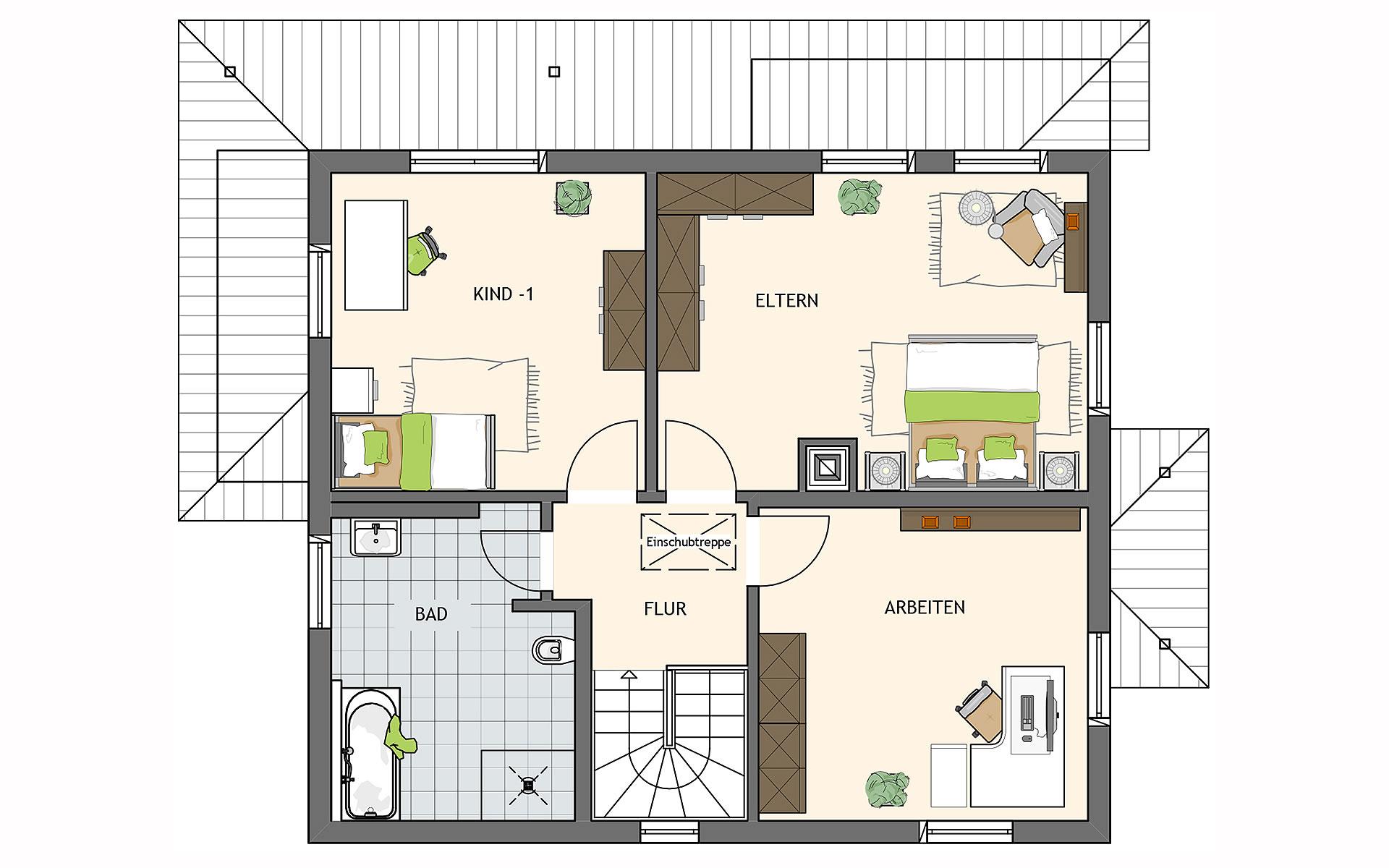 Obergeschoss MEDLEY 310 B  von FingerHaus GmbH