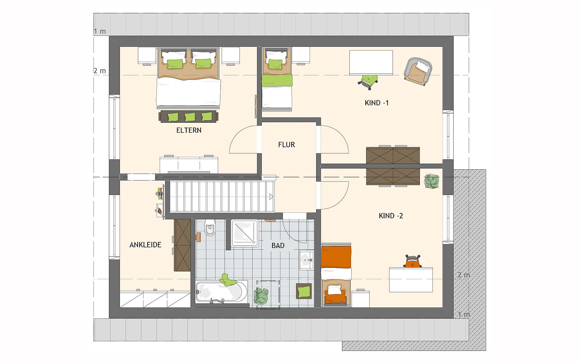 Dachgeschoss NEO 311 ek5 von FingerHaus GmbH