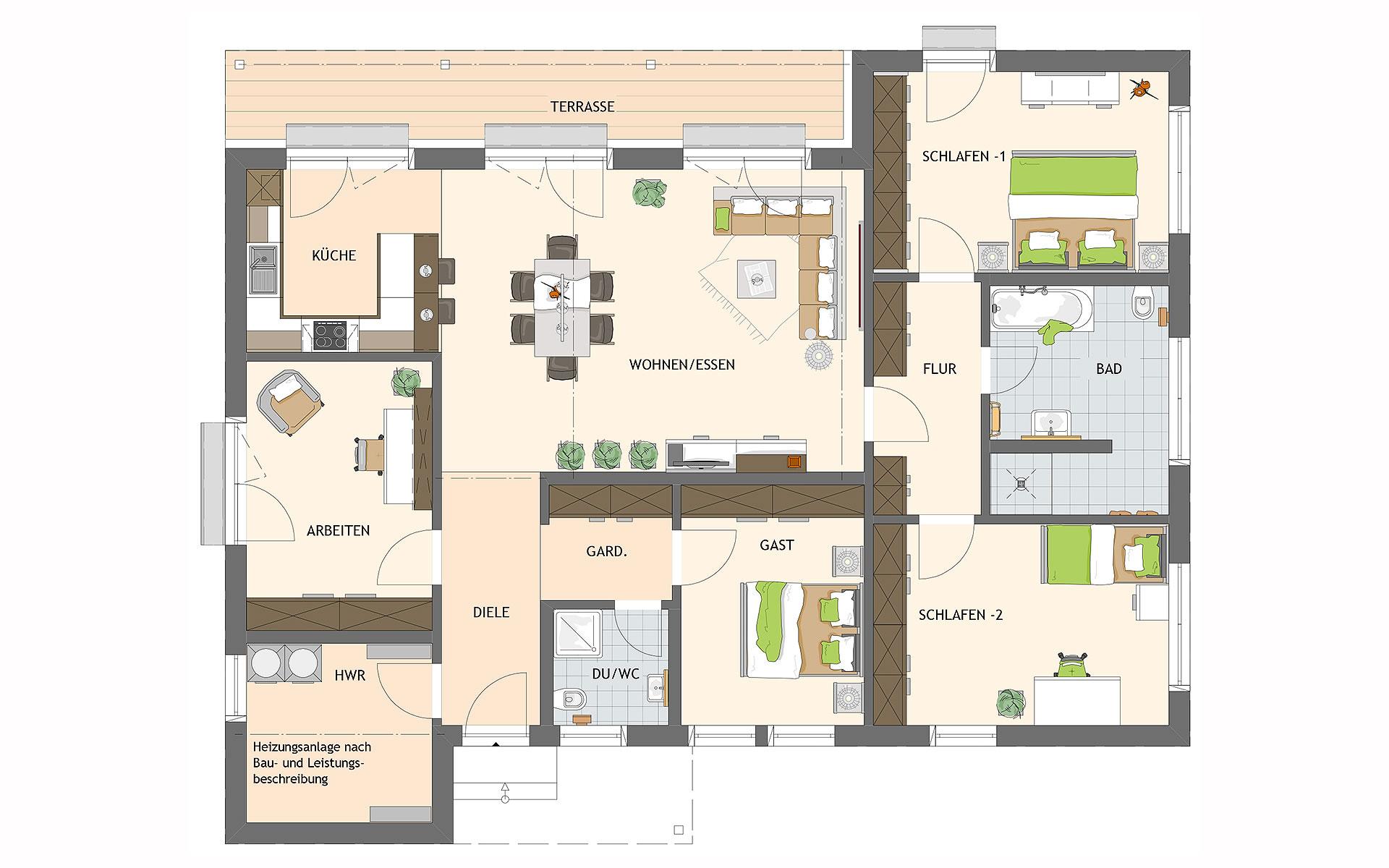 Erdgeschoss NIVO 140 W von FingerHaus GmbH