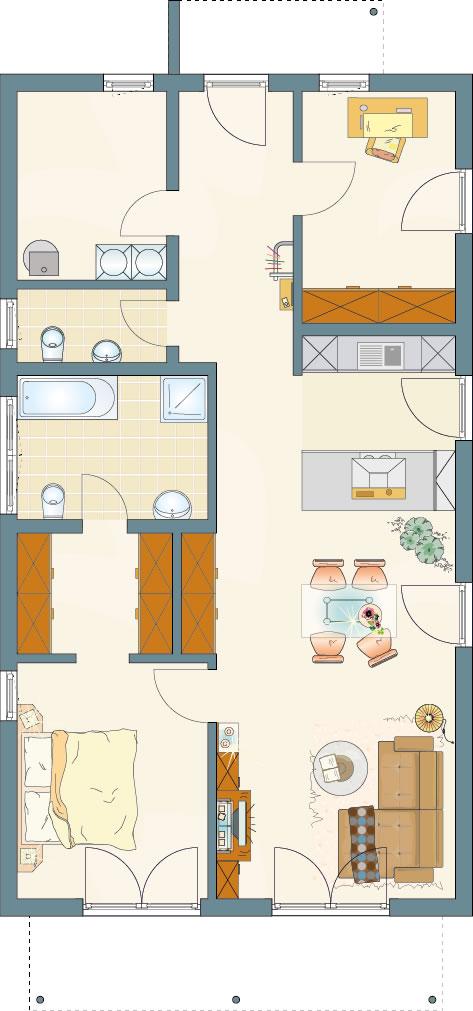 Erdgeschoss NIVO 95 F von FingerHaus GmbH