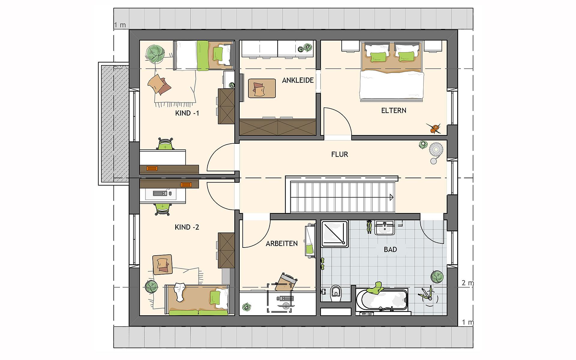 Dachgeschoss SENTO 400 A S130 von FingerHaus GmbH
