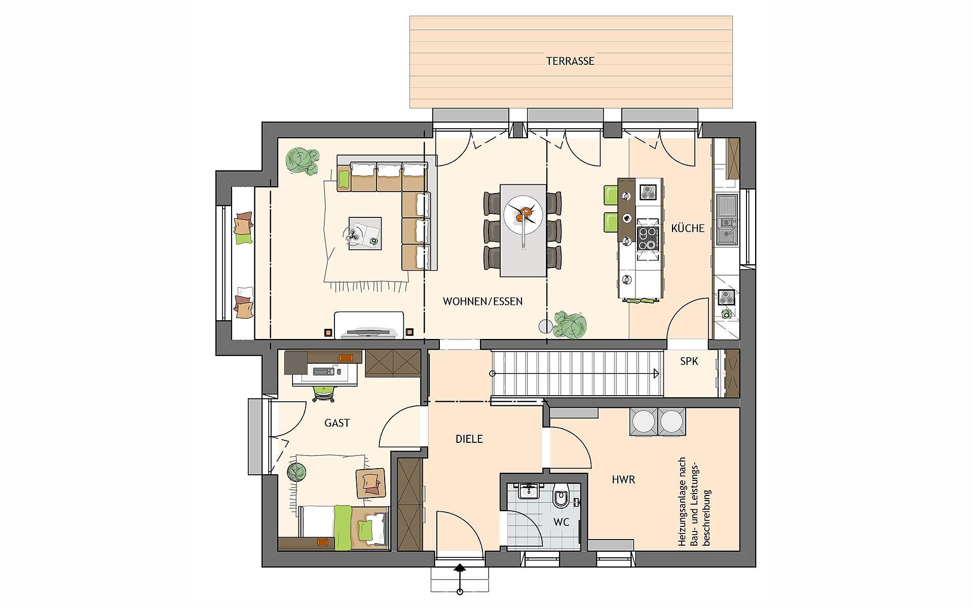 Erdgeschoss SENTO 400 A S130 von FingerHaus GmbH