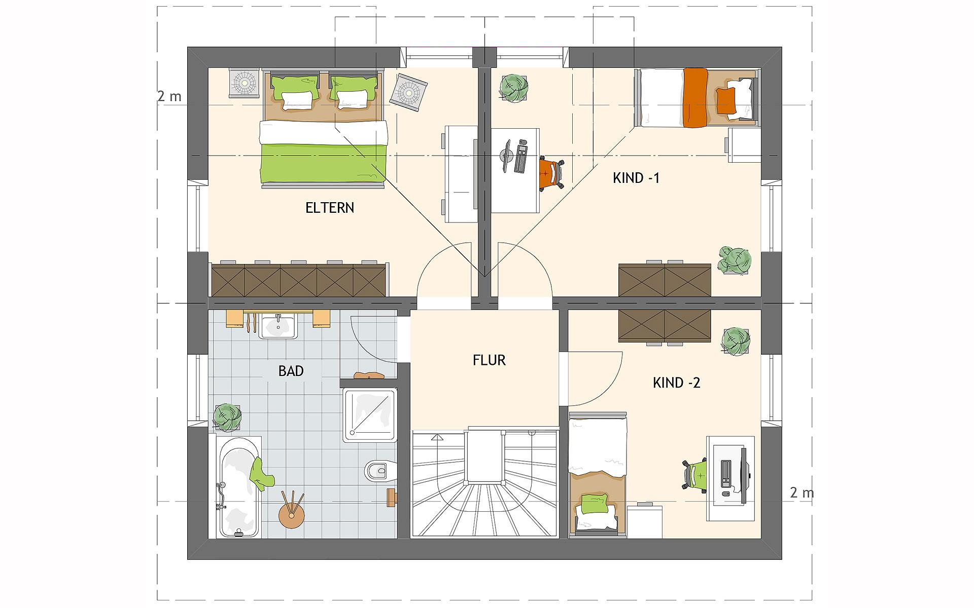 Dachgeschoss UNO 2.0 100 S180 von FingerHaus GmbH