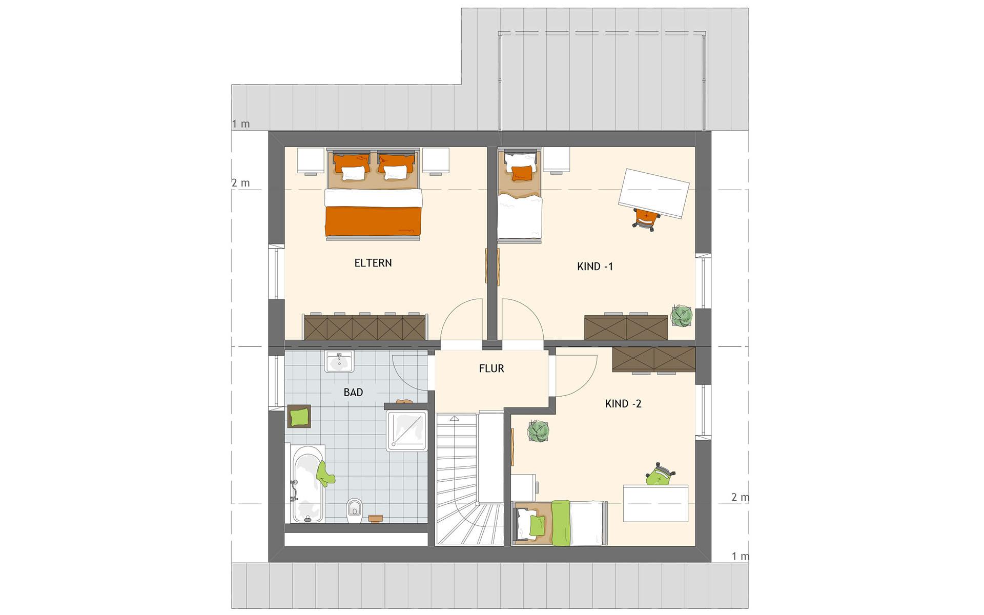 Dachgeschoss VIO 200 S130 WG von FingerHaus GmbH