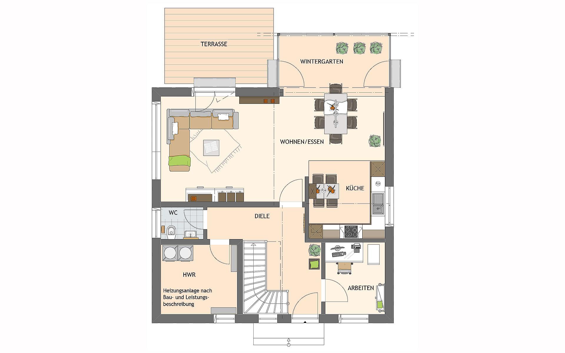 Erdgeschoss VIO 200 S130 WG von FingerHaus GmbH