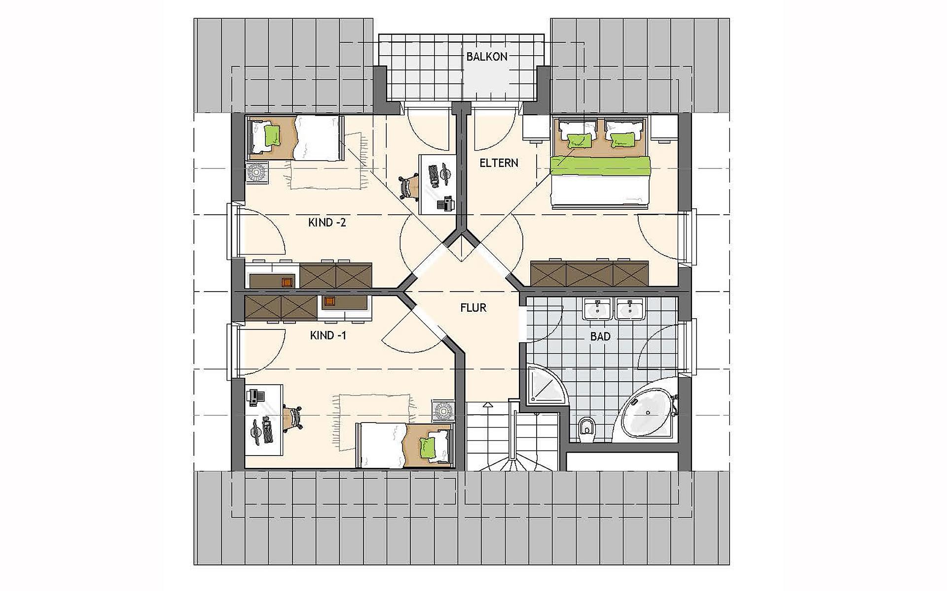 Dachgeschoss VIO - MH Gründau von FingerHaus GmbH