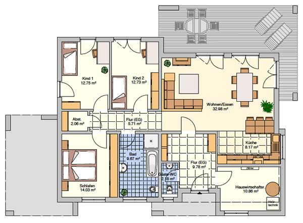 Erdgeschoss Novum von Fingerhut Haus GmbH & Co. KG