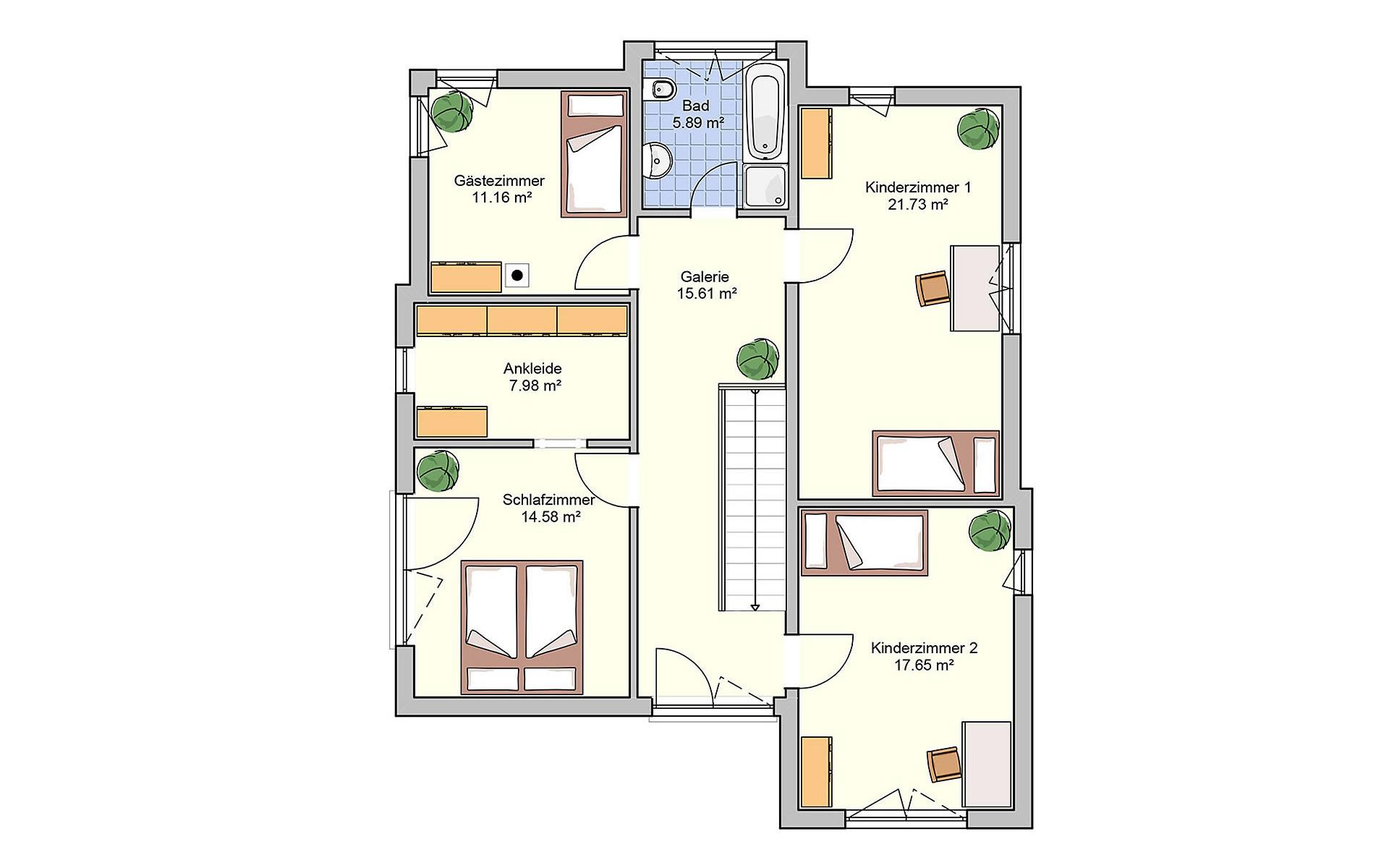 Dachgeschoss Bela von Fingerhut Haus GmbH & Co. KG