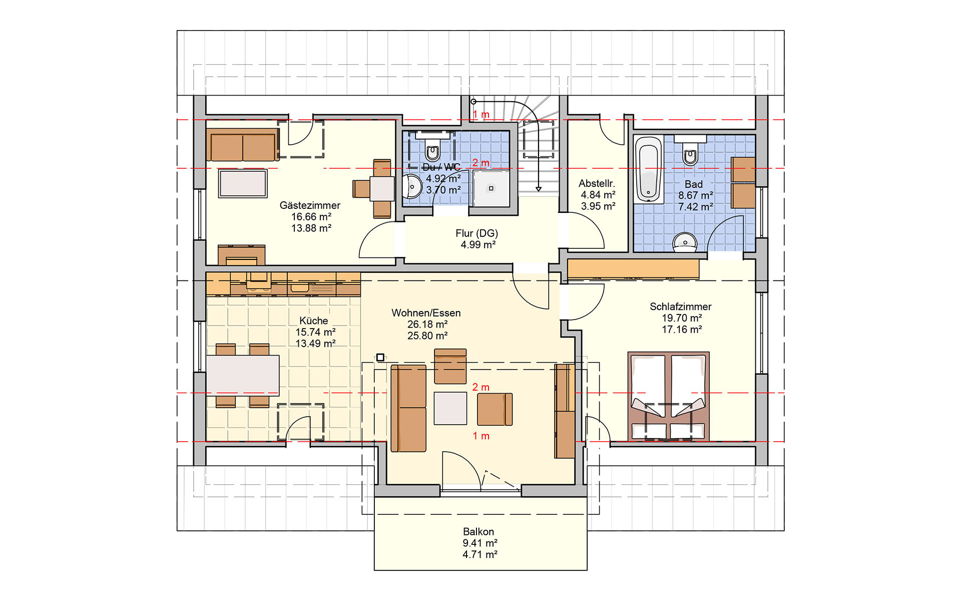 Dachgeschoss Bonvenon von Fingerhut Haus GmbH & Co. KG