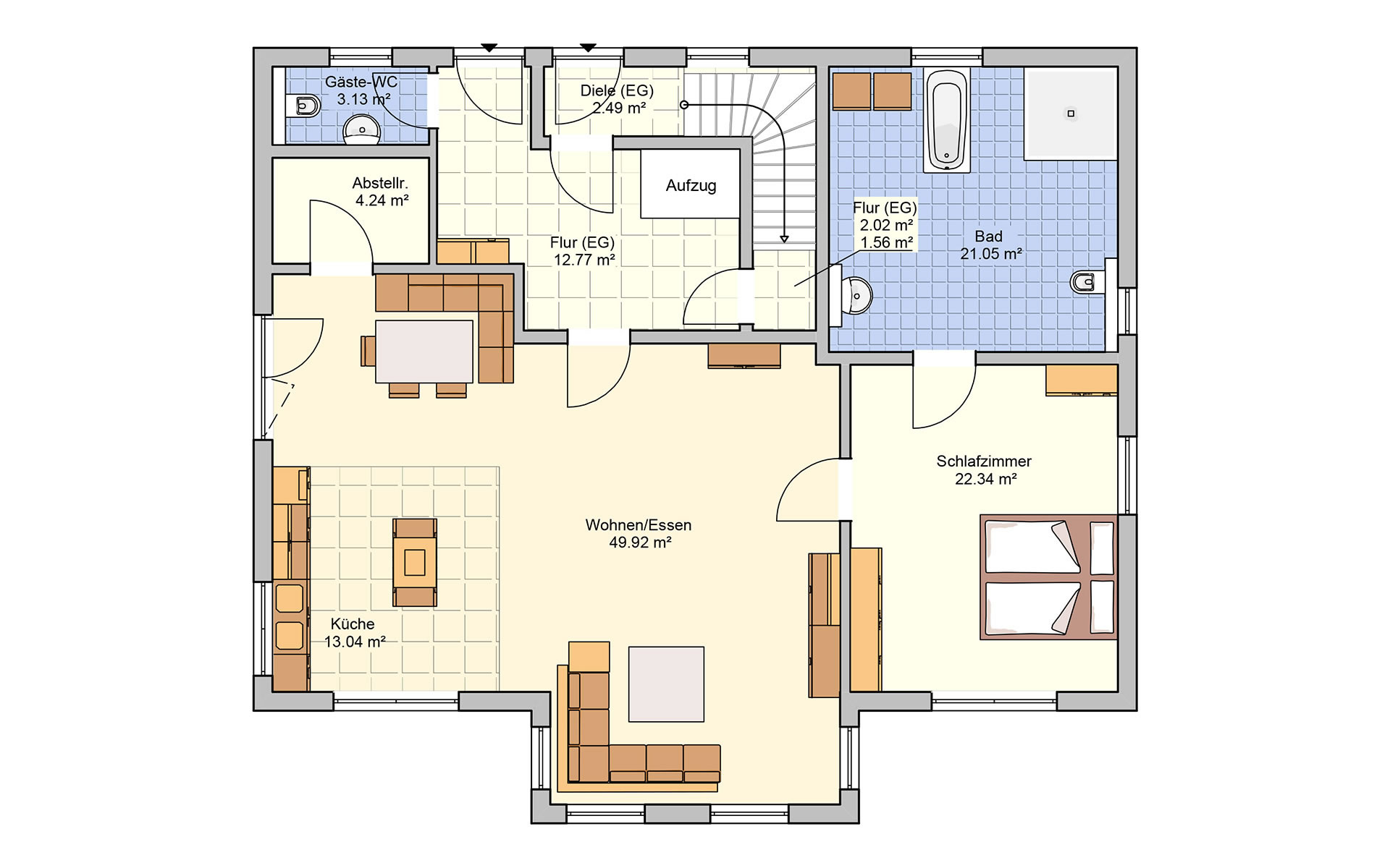 Obergeschoss Bonvenon von Fingerhut Haus GmbH & Co. KG