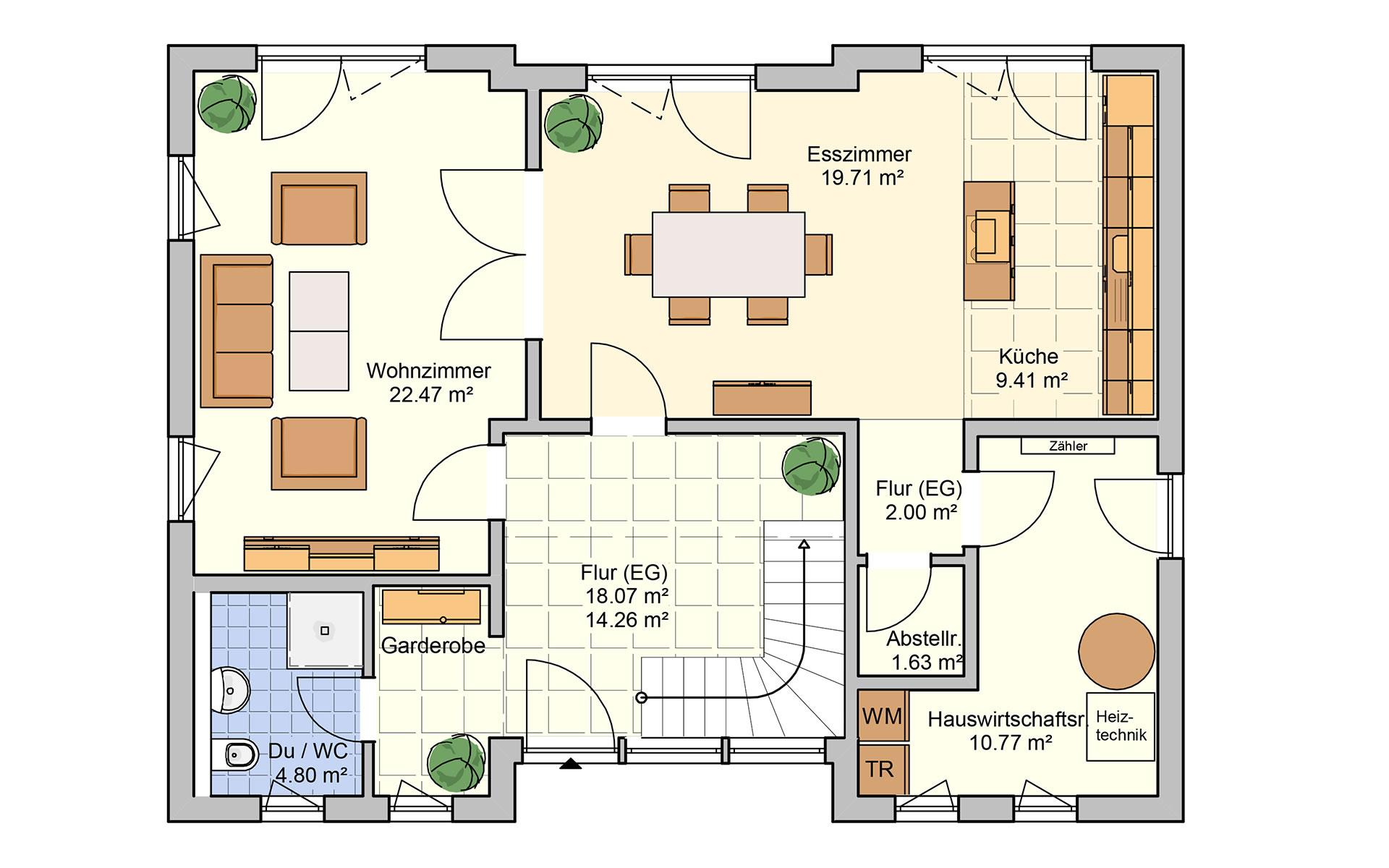 Erdgeschoss Deklivo von Fingerhut Haus GmbH & Co. KG
