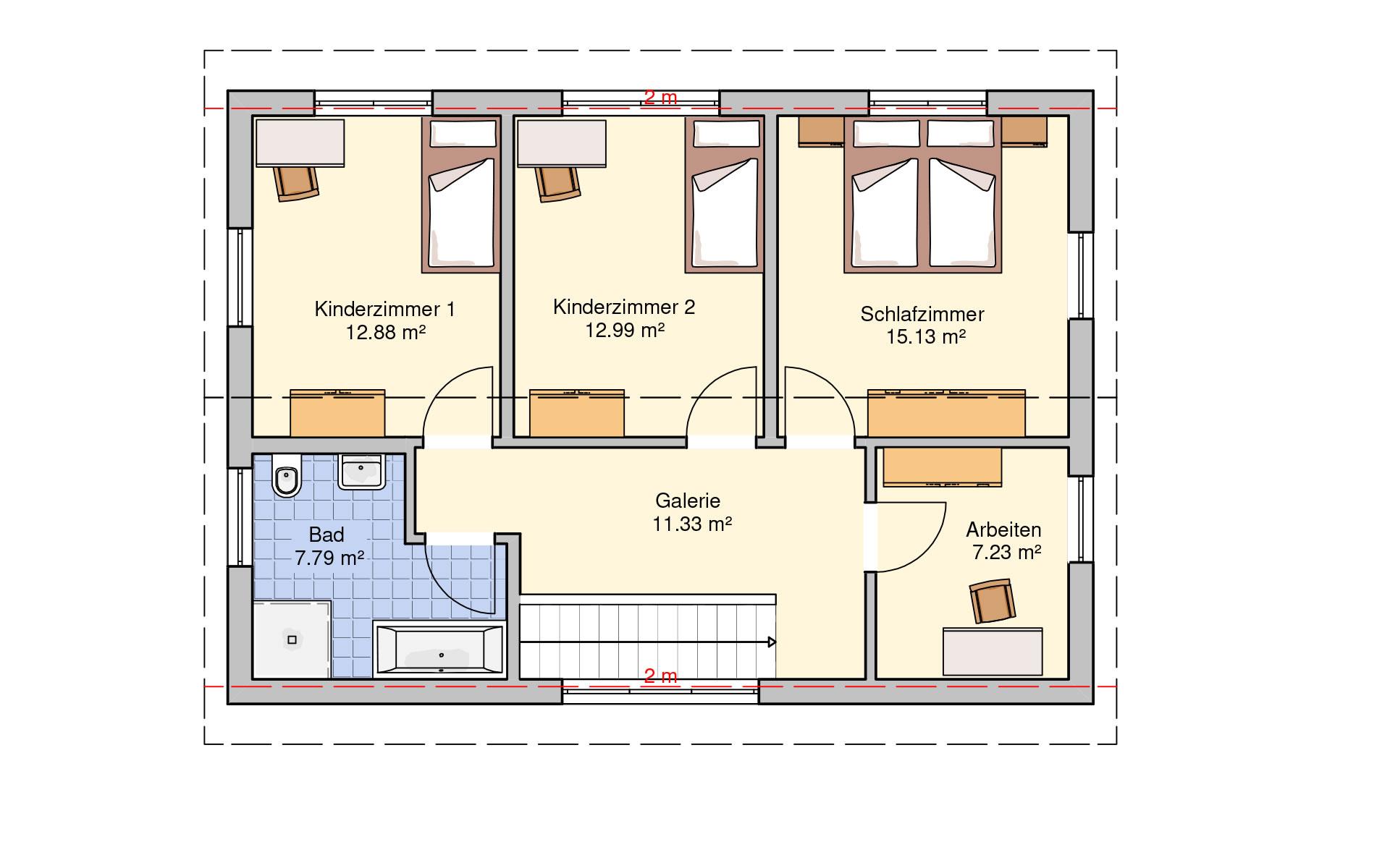 Obergeschoss Dublin von Fingerhut Haus GmbH & Co. KG