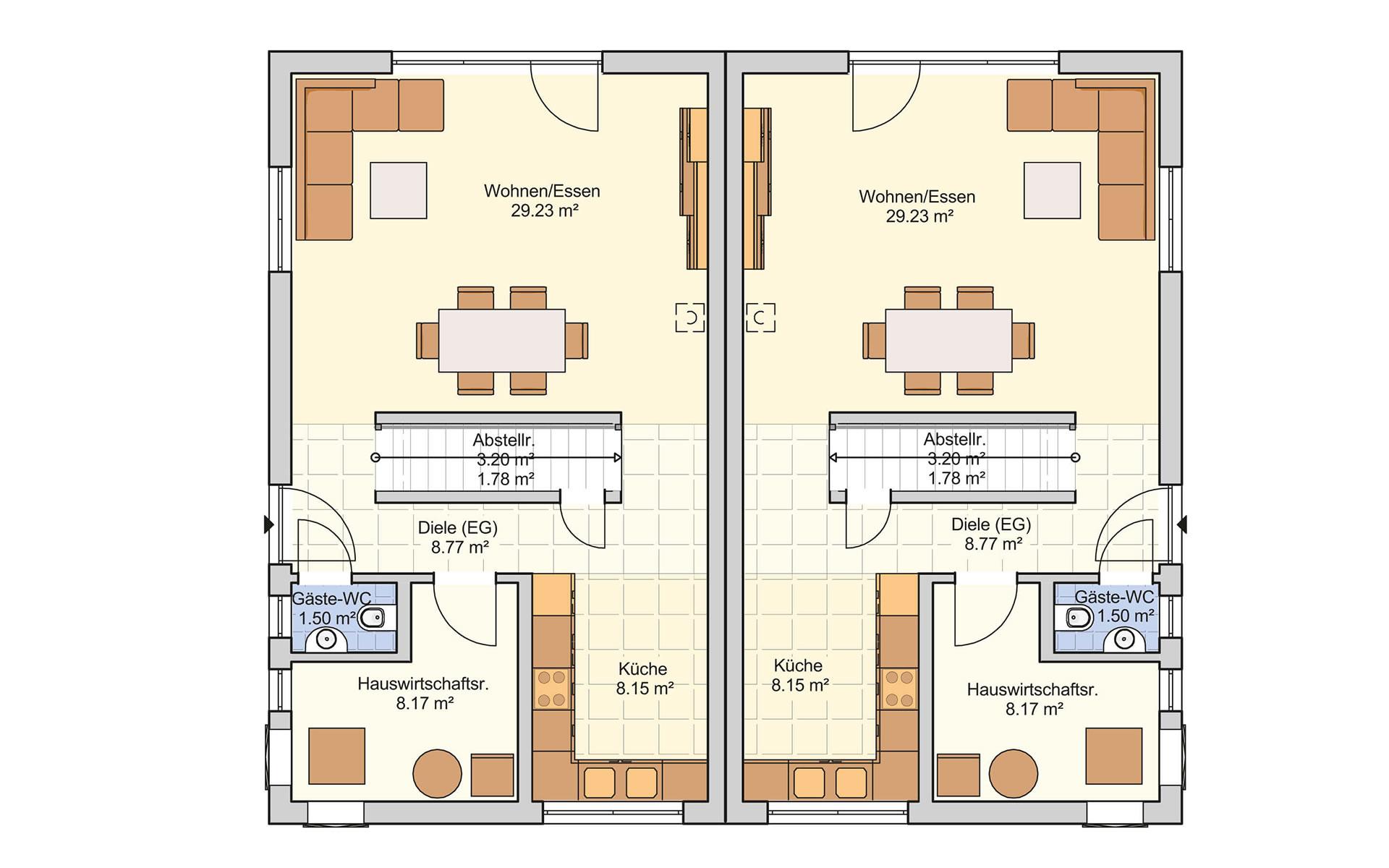 Erdgeschoss Duett 114 von Fingerhut Haus GmbH & Co. KG