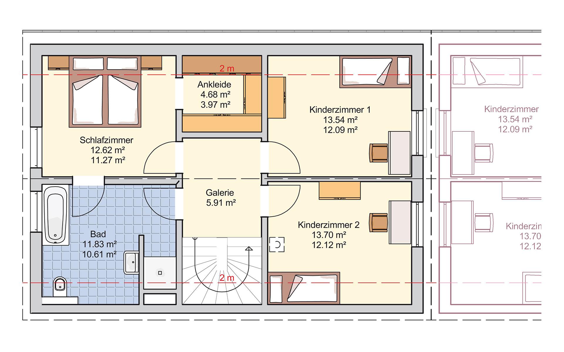 Dachgeschoss Duett 128 von Fingerhut Haus GmbH & Co. KG