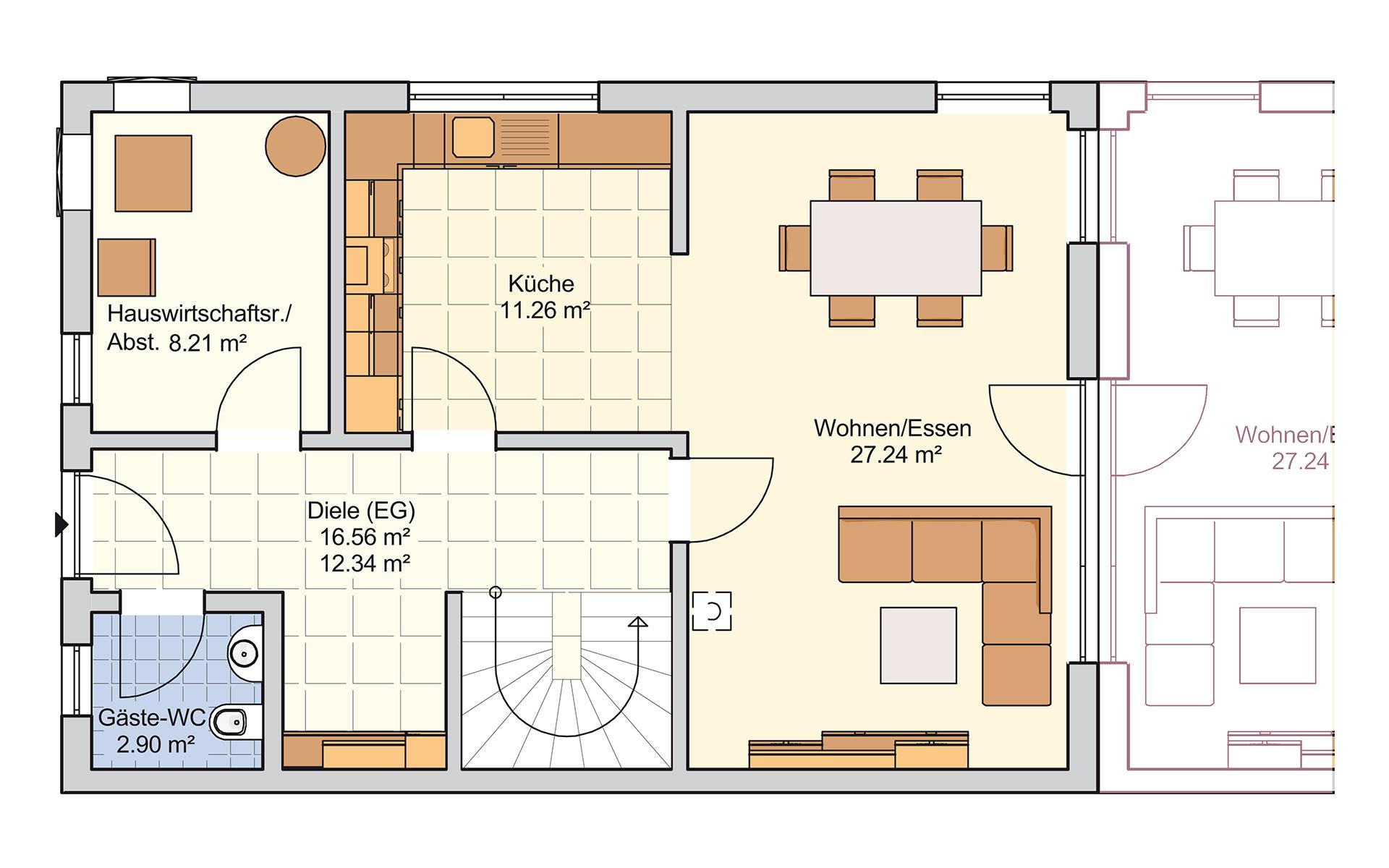 Erdgeschoss Duett 128 von Fingerhut Haus GmbH & Co. KG