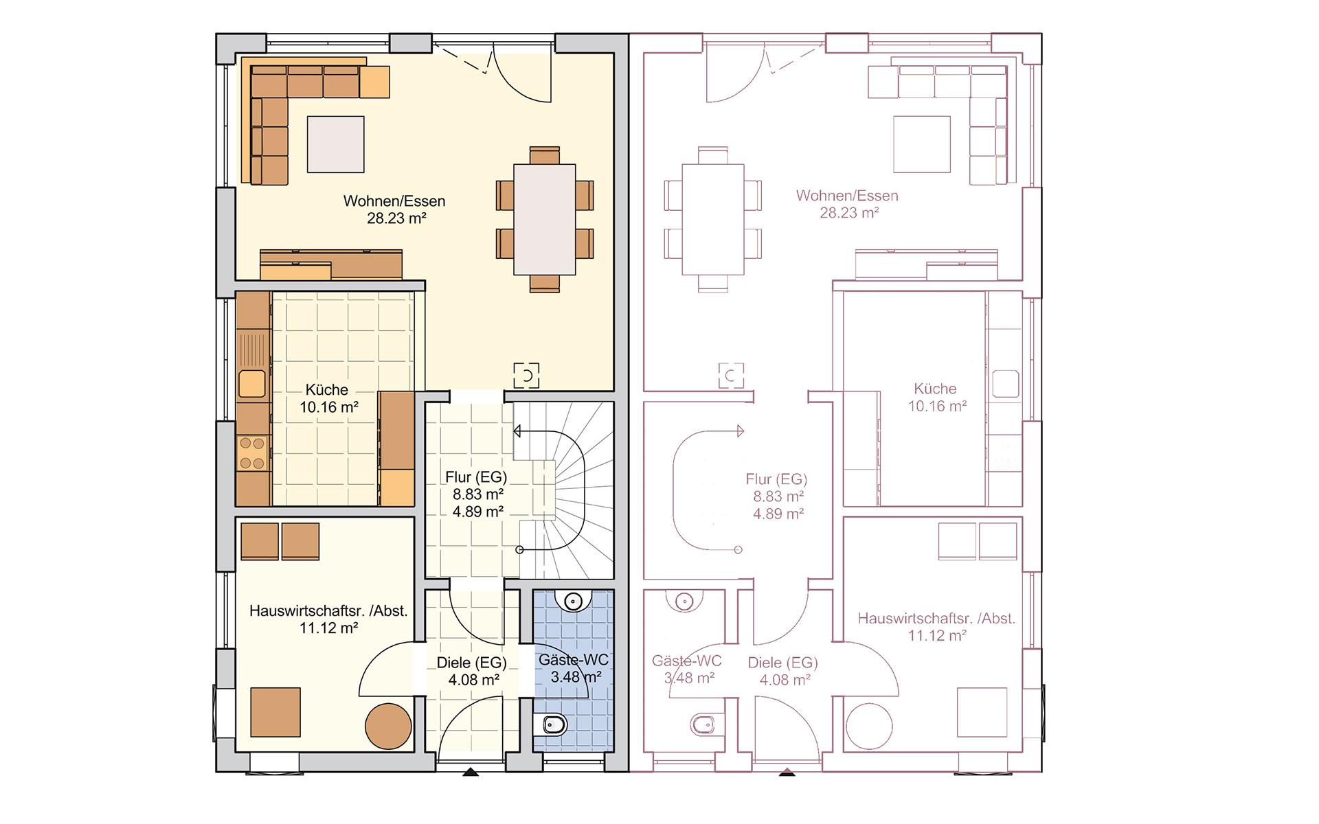 Erdgeschoss Duett 129 von Fingerhut Haus GmbH & Co. KG
