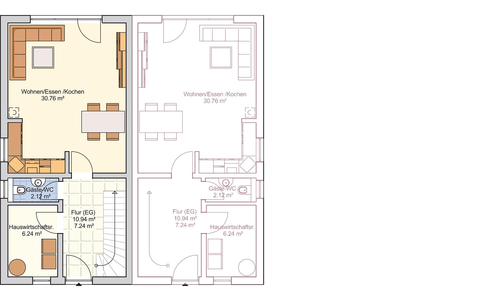 Erdgeschoss Duett 96 von Fingerhut Haus GmbH & Co. KG