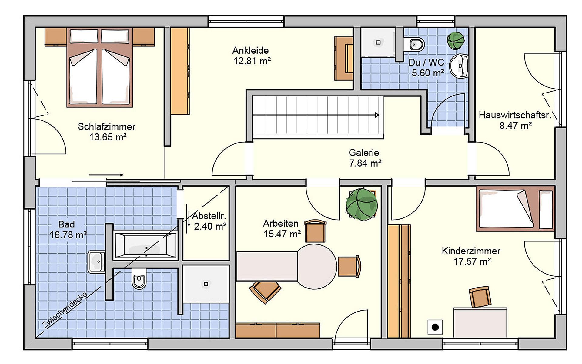 Dachgeschoss Arbaro von Fingerhut Haus GmbH & Co. KG