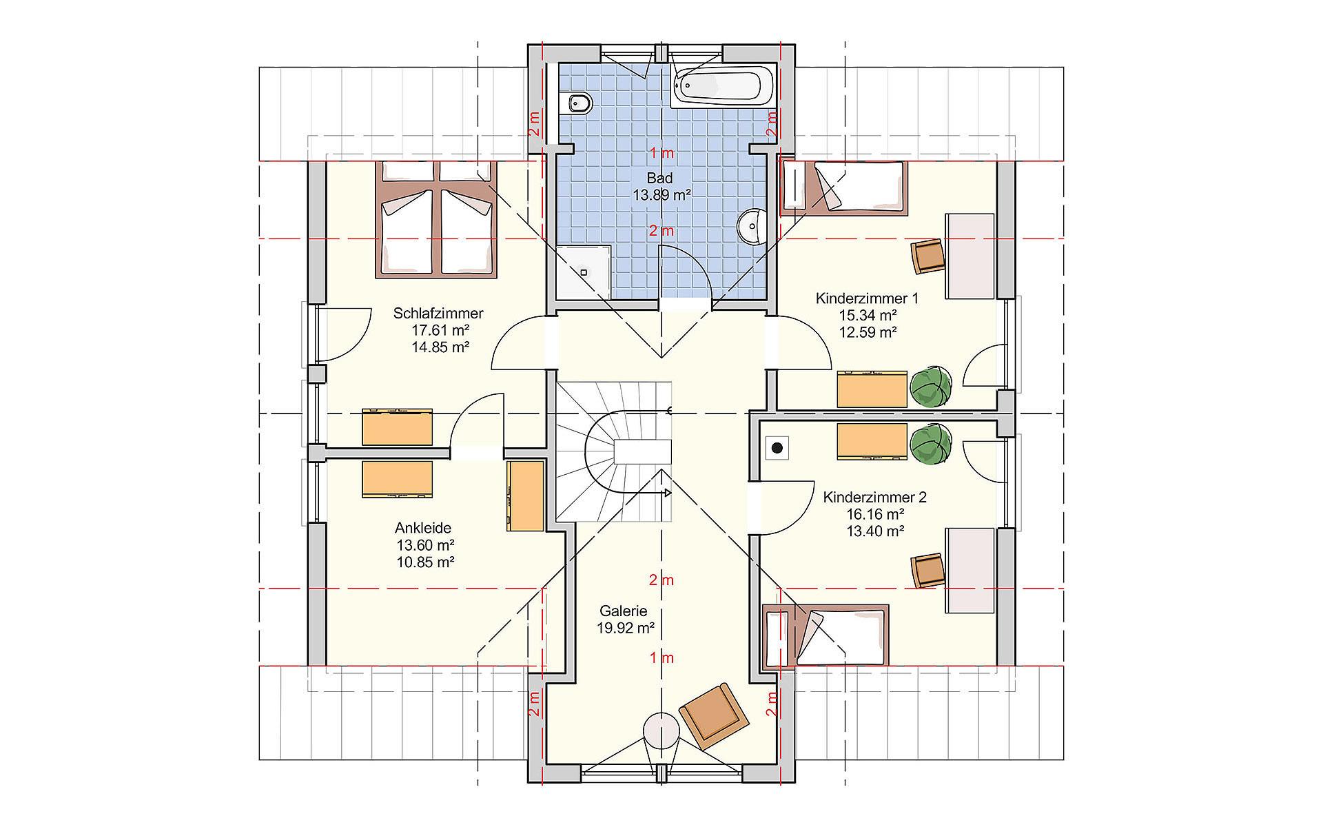Dachgeschoss Bad Vilbel (3-Giebelhaus) von Fingerhut Haus GmbH & Co. KG