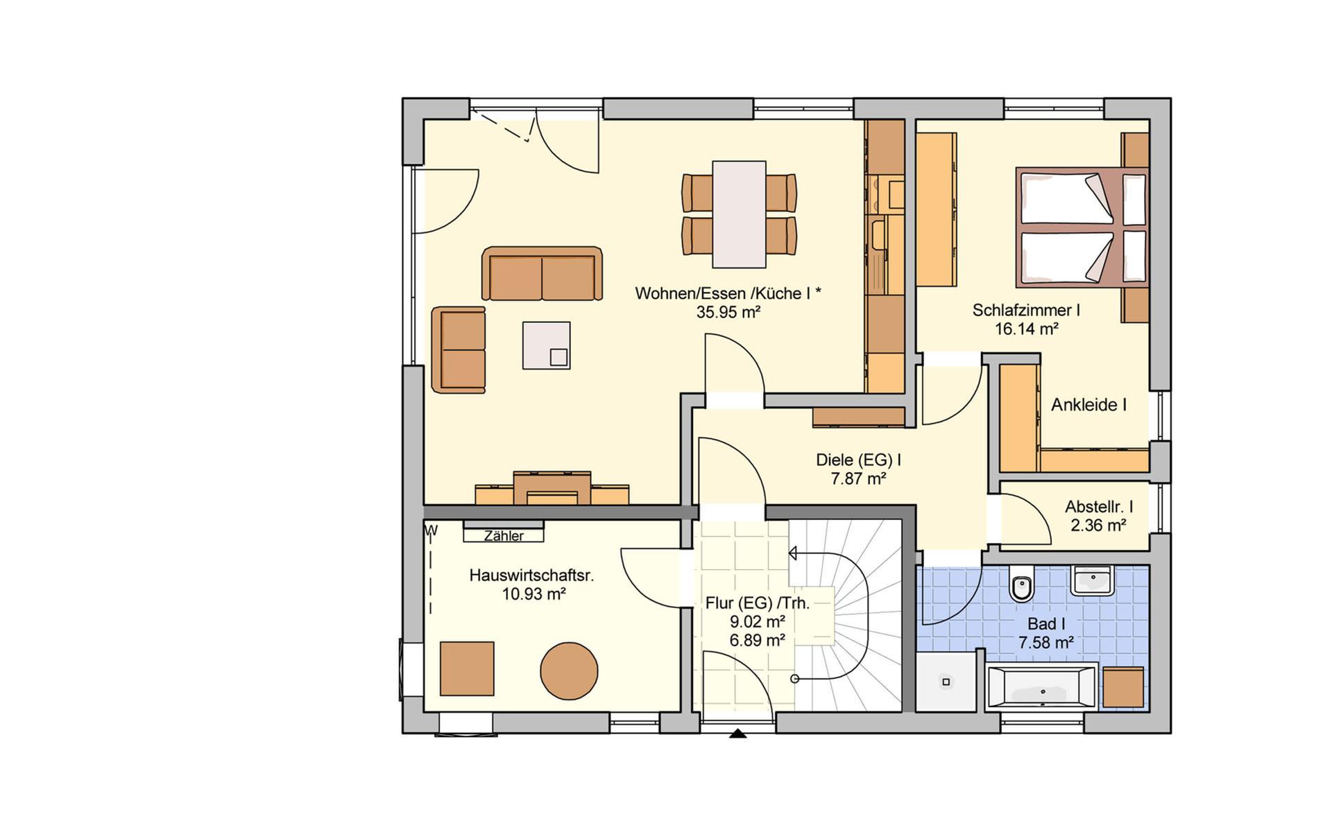 Erdgeschoss Junto 175 von Fingerhut Haus GmbH & Co. KG