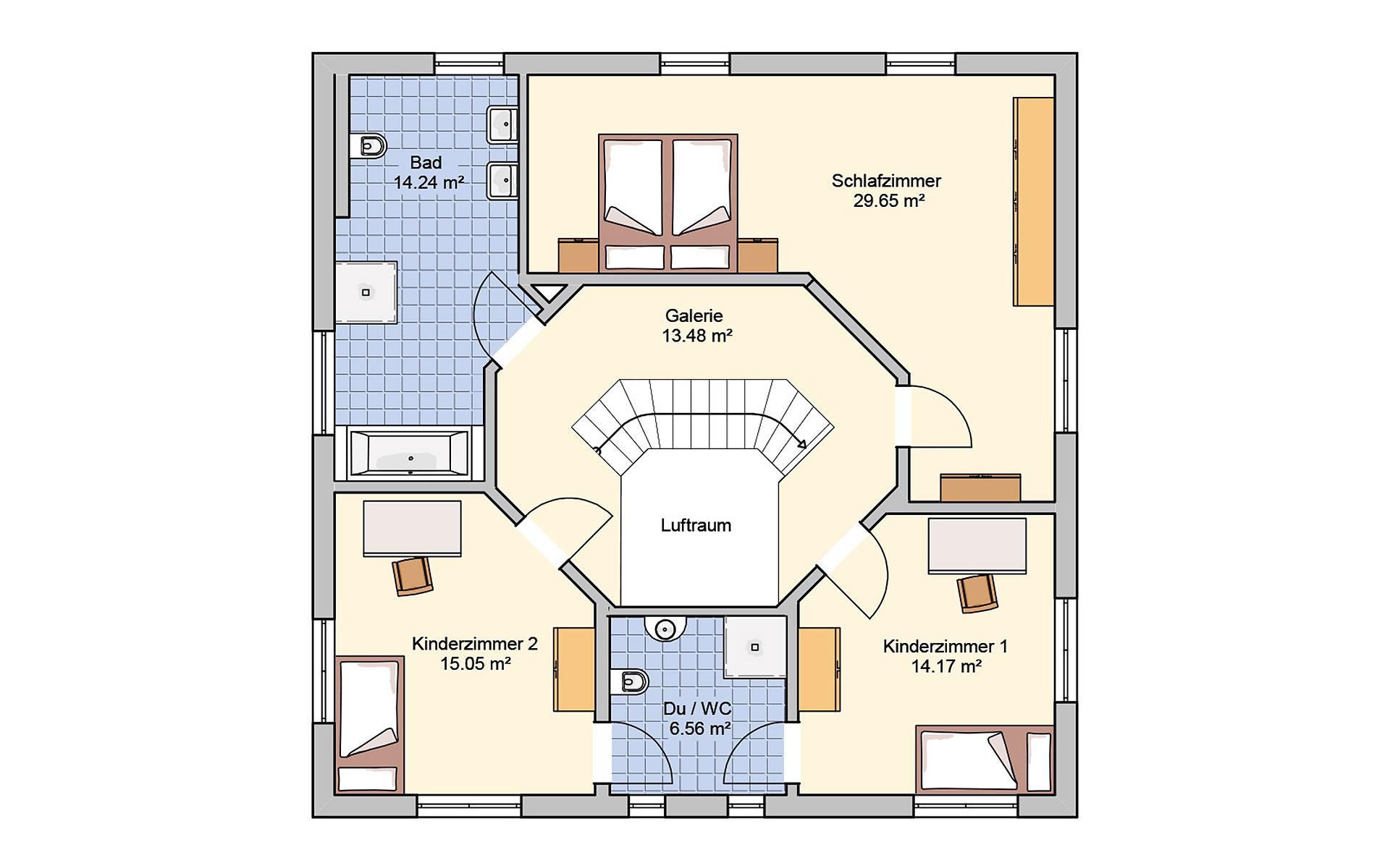 Dachgeschoss Klara von Fingerhut Haus GmbH & Co. KG