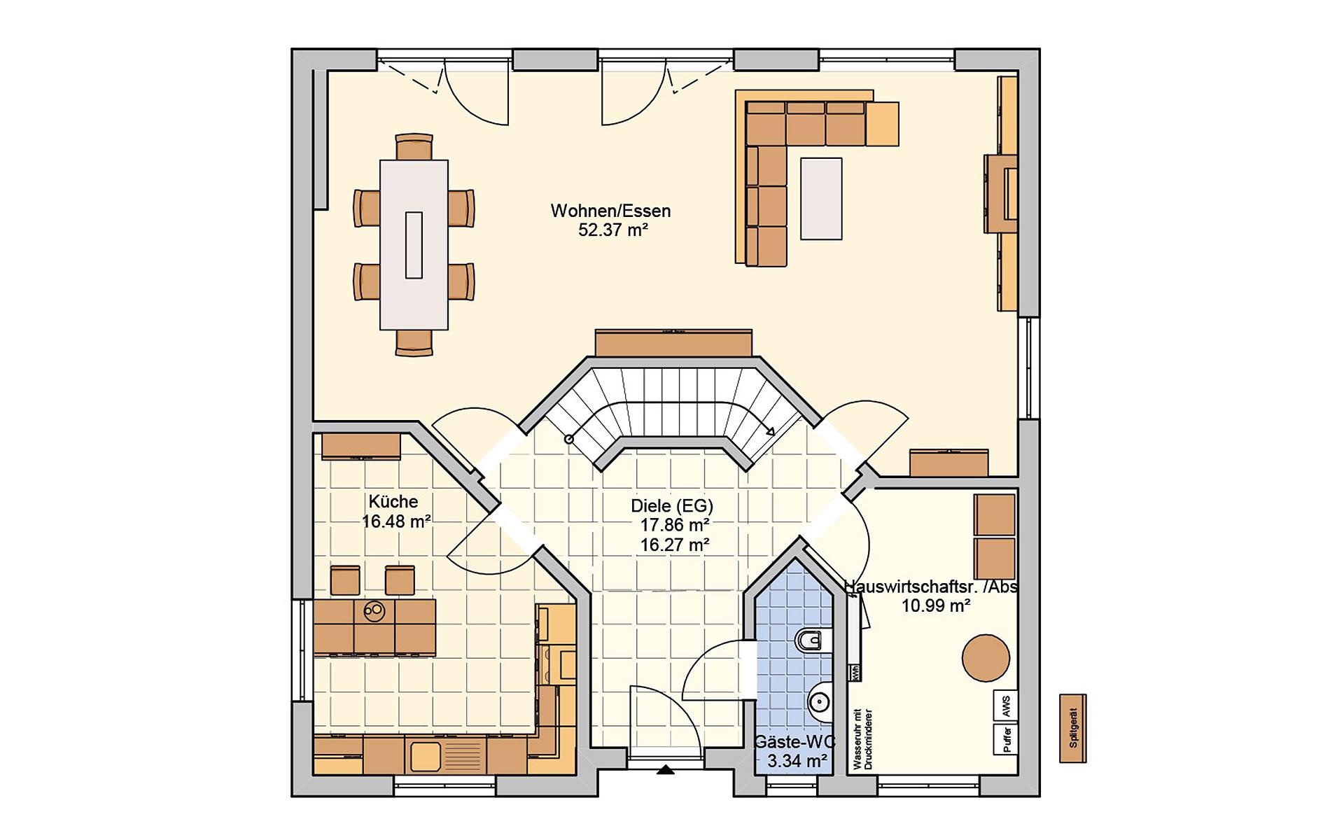 Erdgeschoss Klara von Fingerhut Haus GmbH & Co. KG
