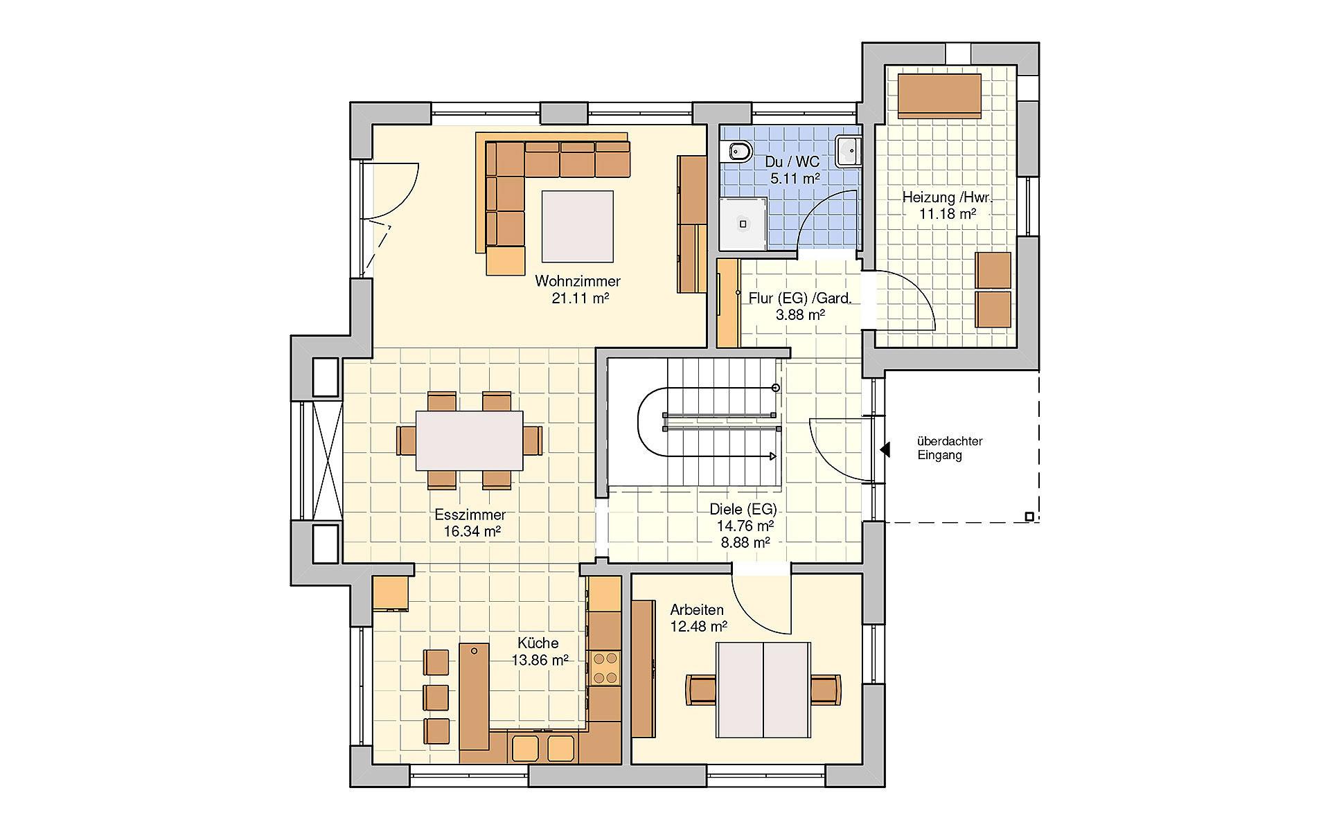 Erdgeschoss Günzburg (Musterhaus) von Fingerhut Haus GmbH & Co. KG