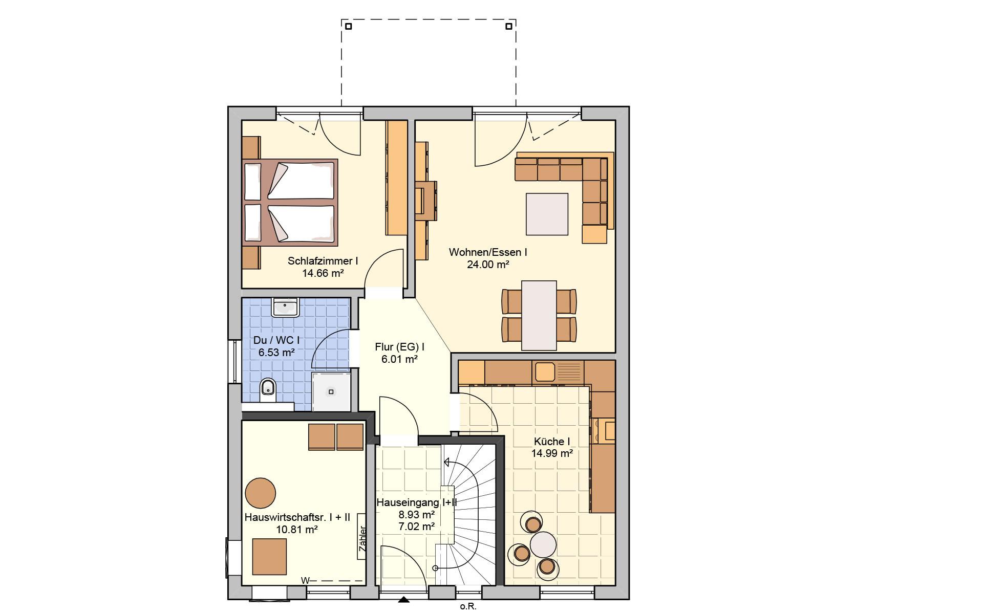 Erdgeschoss Komforta von Fingerhut Haus GmbH & Co. KG
